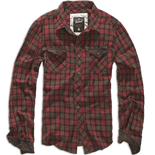 Brandit Mens Checkshirt Duncan Red/Brown