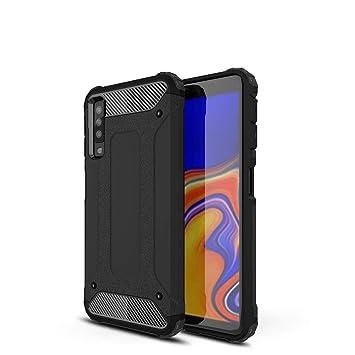 d01da1d1b07 LAGUI Compatible Funda para Samsung Galaxy A7 2018, Robusta Carcasa Híbrida  TPU/PC de