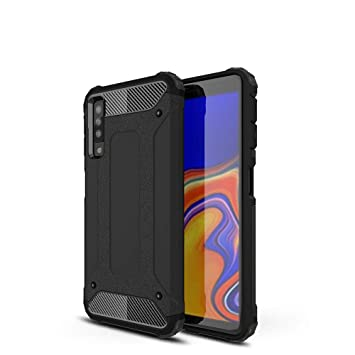 LAGUI Compatible Funda para Samsung Galaxy A7 2018, Robusta Carcasa Híbrida TPU/PC de Doble Capa, Anti-Arañazos Anti-Huella Cubierta Protectora, ...