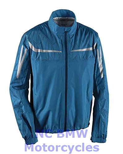 Bmw Riding Jackets - BMW Genuine Motorcycle Unisex RainLock Rain Riding Unisex Jacket Blue Size S