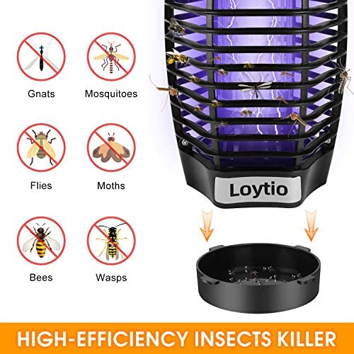 ZAAPTOL Bug Zapper & Attractant – Electric Mosquito Zappers/Killer – Insect Fly Trap, Waterproof Outdoor/Indoor – Electronic Light Bulb Lamp for Backyard, Patio 51DIGKfBjML