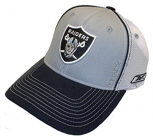 Reebok Oakland Raiders NFL Sideline YOUTH Hat Cap Gray/Mesh Flex Fitted - Cap Sideline Youth