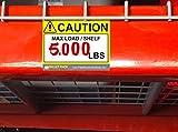 (25) Warehouse Rack Labels, Pallet Rack Cross