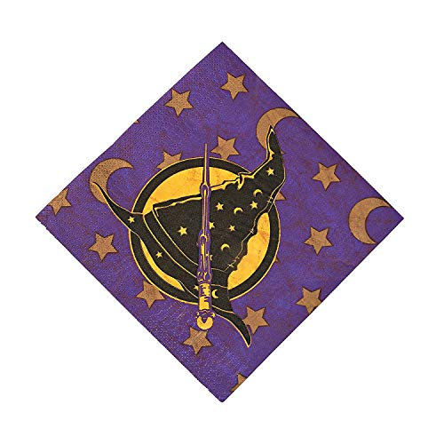 Fun Express - Wizard Realm Lunch Napkin (16pc) - Party Supplies - Print Tableware - Print Napkins - 16 Pieces (Wizard Supplies Party Realm)