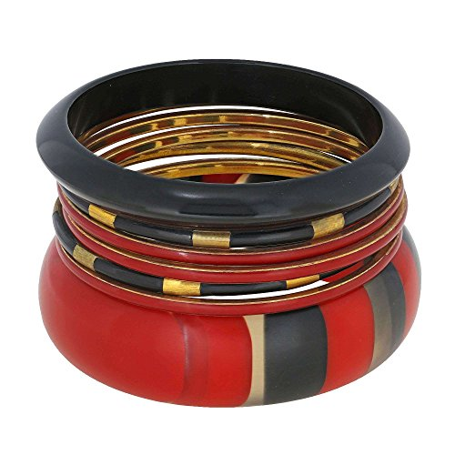 Rouge et Noir indien Bijoux Fantaisie Mode Bracelets de cadeau de Noël pour elle