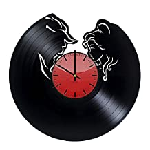 Cool Modern Diy, Vinyl Record Wall Clock - Get unique kids room or bedroom decor - Gift ideas for youth, teens and kids – Fantasy Film Characters Unique Wall Art
