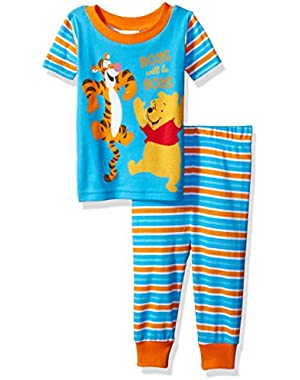Disney Baby Boys' Winnie the Pooh 2-Piece Cotton Pajama Set