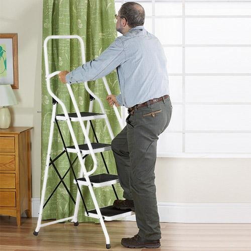 Easylife Steel Safety Four Step Ladder With Support Rails - Stepladders - Amazon.com & Easylife Steel Safety Four Step Ladder With Support Rails ... islam-shia.org