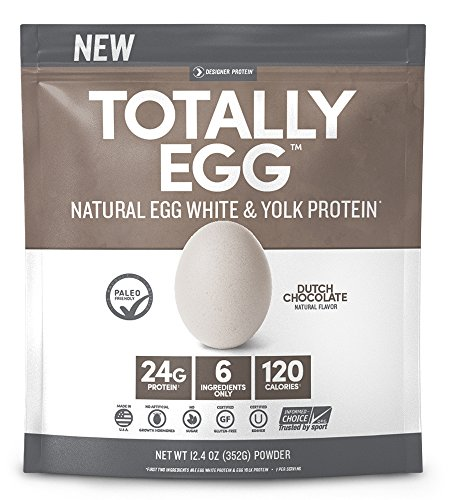 Designer Protein Totally Egg Protein Powder, Dutch Chocolate, 12.4 Ounce