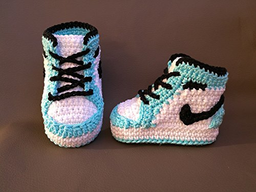 newest 914ba 71a14 Crochet PATTERN baby Air Jordan Nike, newborn shoes by  chelaru, paula