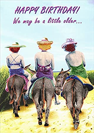 Amazon 3 women on donkeys funny birthday card kitchen dining 3 women on donkeys funny birthday card bookmarktalkfo Gallery