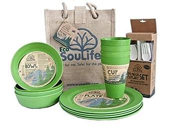 EcoSouLife Biodegradable Picnic Set by Ecosoulife: Amazon.es ...