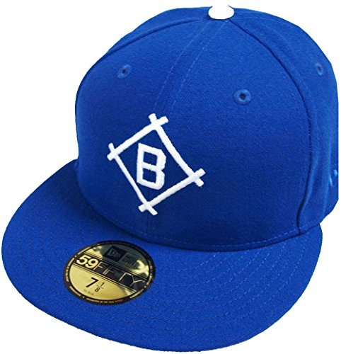 New Era Dodgers Brooklyn (New Era Brooklyn Dodgers Dark Royal Cooperstown MLB Cap 59fifty 5950 Fitted Basecap Kappe Men Special Limited Edition)