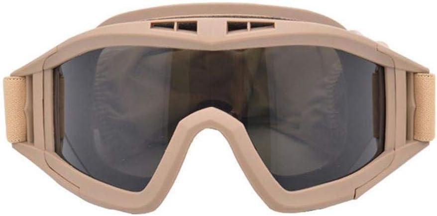 hhxiao Gafas de Campo Gafas de Ventilador del ejército Gafas tácticas Anti-Impacto Desert Gafas Gafas Fuerzas Especiales Gafas Equipo al Aire Libre