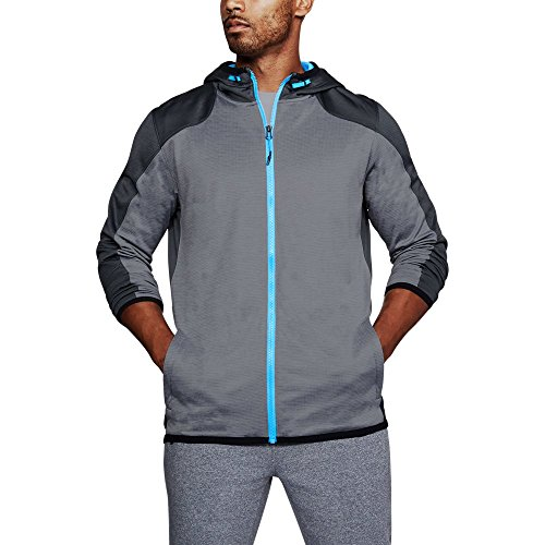 Under Armour Men's ColdGear Reactor Fleece Full Zip Hoodie,Steel/Silver, (Mens Reactor)