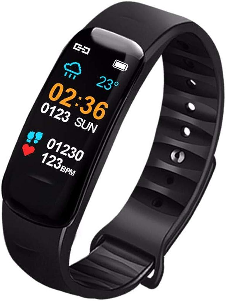 Miuye Smart Watch Sports Fitness Activity Heart Rate Tracker Blood Pressure Calories Sleep Monitor Smart Bracelet