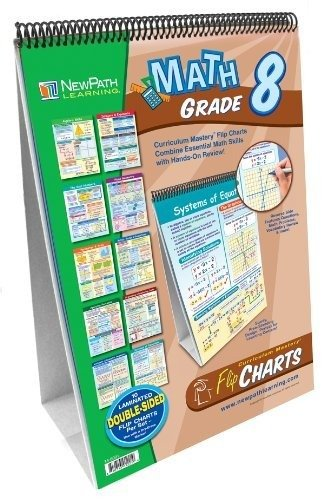 NewPath Learning Math Curriculum Mastery Flip Chart Set, Grade 8-10