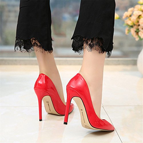 de Fashion MONAcwe Down Sexy Sra Tips Shallow S Slide de Stiletto Tacones Tacones Boda Color H8FC8wq