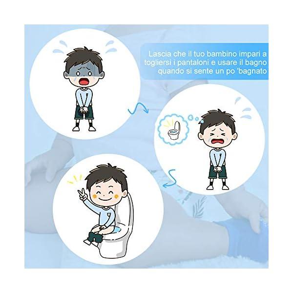 Lictin 4 Pezzi Mutandine di Apprendimento - 2 Pezzi Pannolini riutilizzabili con Pantaloni da Allenamento vasino a 7… 5
