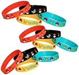 Pokemon Party Supplies Silicone Wristband Bracelet Favors 12 Count (Toy)