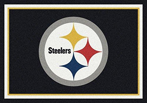 Pittsburgh Steelers NFL Team Spirit Area Rug by Milliken, 2'8