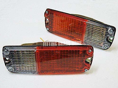Front Bumper Parking Turn Signal Lights Lamp for Toyota Hilux Rn20 25 27 1974-1978 Pair Orange-clear Lenses