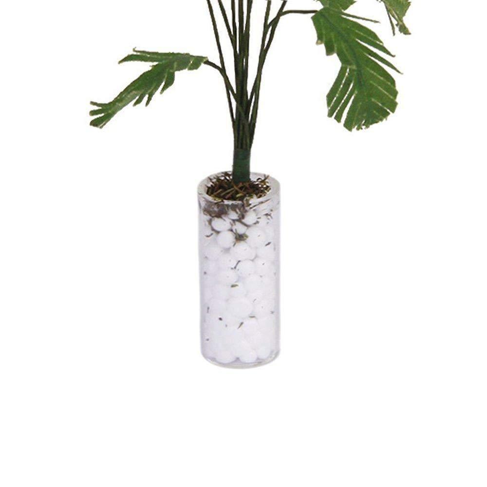 Fliyeong Dollhouse Plant Mini Gr/ünpflanze Bananenstaude mit wei/ßer Flasche Dollhouse Miniature Garden oder Indoor Zubeh/ör 1:12