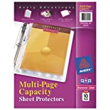 Avery Diamond Clear Multi-Page Capacity Sheet Protectors, Acid Free, Pack of 10 (74172)