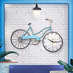 Yuany Good Craft Wall Clock Wall Clock. 22.8 inches by 14.5 inches. Creative Bicycle Wall Clock - Metal Iron Wall Decoration