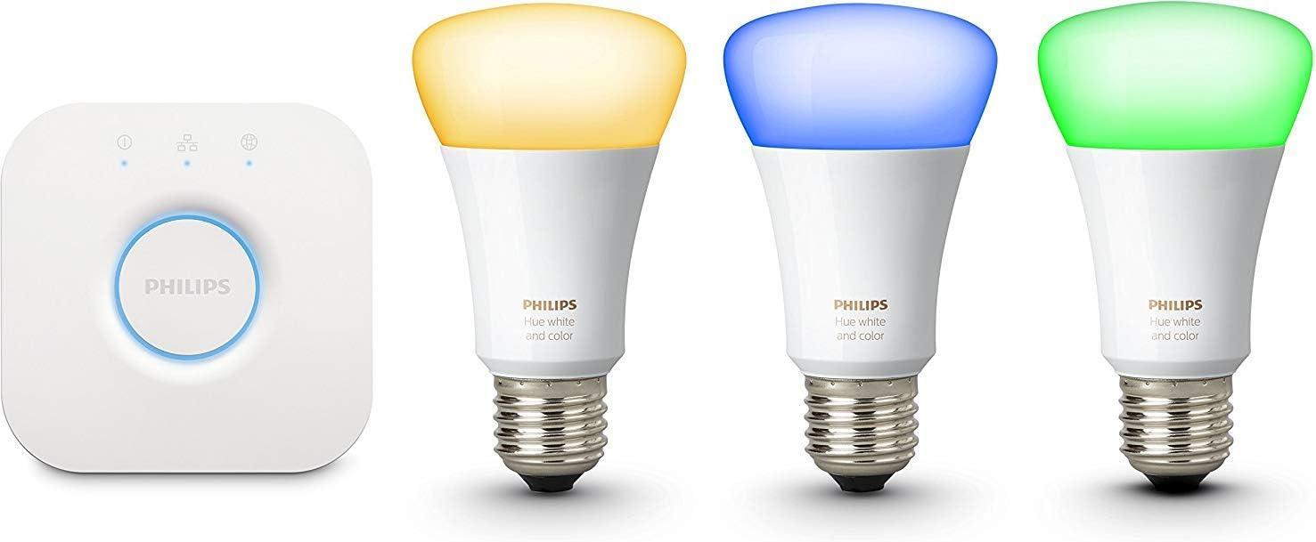 Philips Hue Kit Inicio White E27 Kit de 3 Bombillas LED E27 y ...