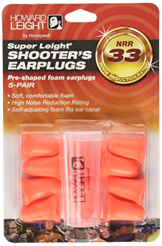 Howard Leight by Honeywell Super Leight Disposable Foam Shooting Earplugs, (Super Plug)