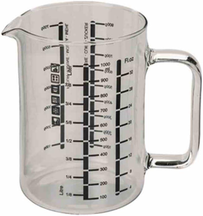 Simax verre doseur Avec Henkel Messkanne borosilicaté avec échelle 0,5 L Et 1,0 L