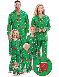 Charlie Brown Christmas Matching Family Pajamas, Green