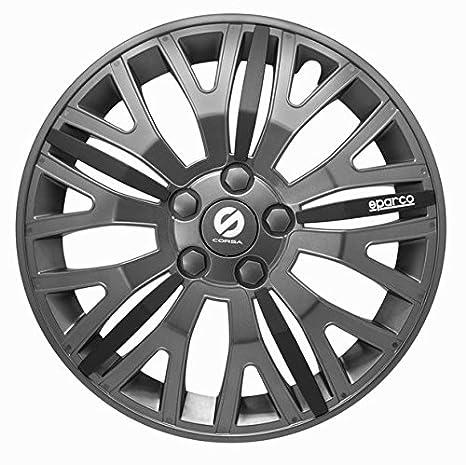 ASD TECH SP 1455L Pack de tapacubos Design Sparco Leggera 14 color gris/negro
