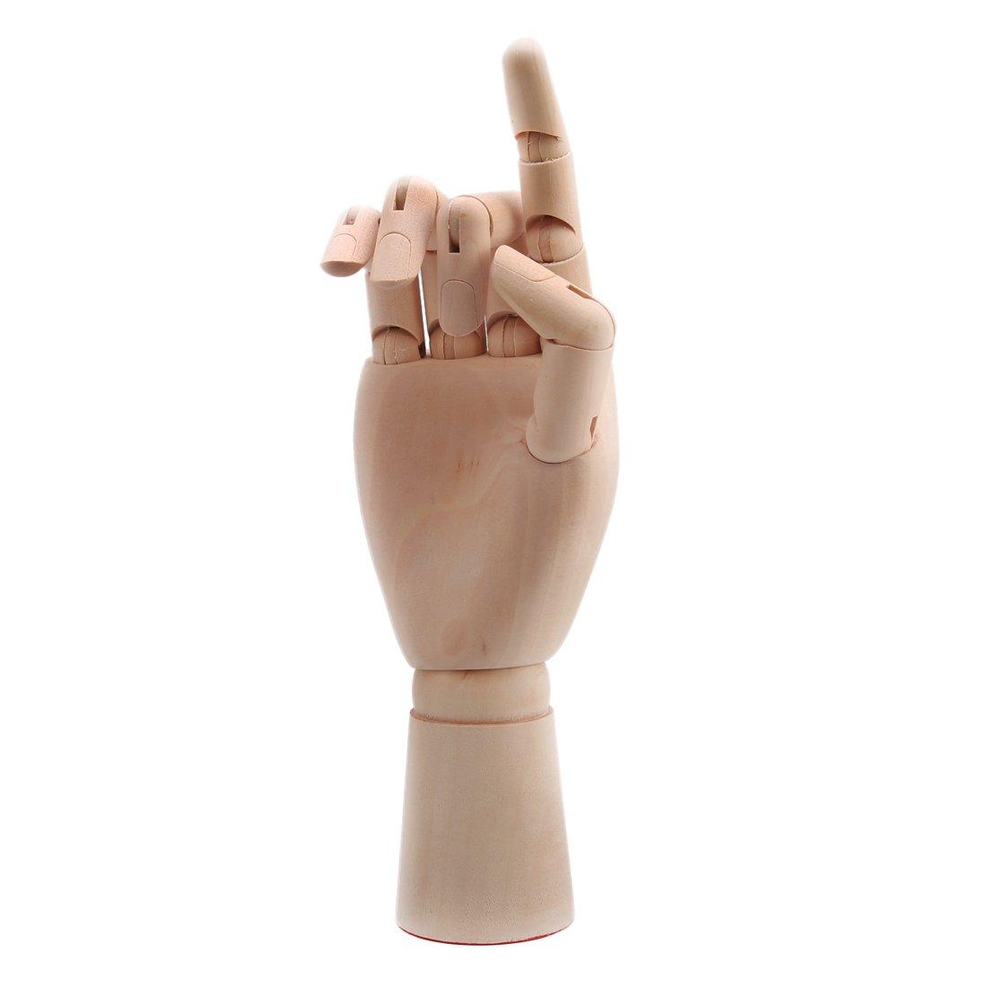 Larcele 10 pollici arte di legno disegno manichini modello umano destro MSMX-01 (26cm)