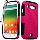 zte imperial ll phone cases - for ZTE Imperial ll 2 Mesh Perforated Skin Cover Case Stylus Pen ApexGears (TM) Pink Black