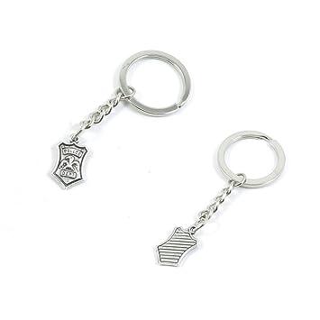 Llavero cadena anillo llavero llavero y8tb7 Policía Badge ...
