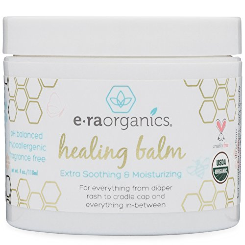 Healing Ointment for Babies 4oz. USDA Certified Organic Natural Healing Cream for Baby Eczema, Cradle Cap (Infant Seborrheic Dermatitis), Chapped Nose, Rashes, Hives & More (Baby Treatment Acne)