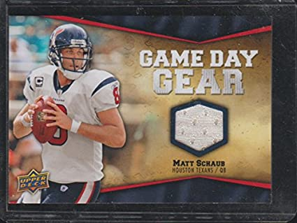 d288c3ba1c80 2009 Upper Deck Matt Schaub Texans Game Day Gear Jersey Football ...