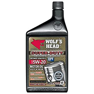 Wolf's Head Super Duty Motor Oil 5W-20 - 12QT case