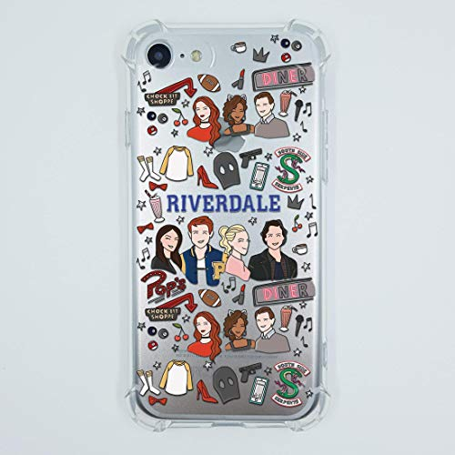 Riverdale iPhone 7 8 6 6s plus X Xs Max Xr 5 case Pops Chocklit Shoppe Southside Serpents Jacket Shirt sweatshirt patch gifts Print Lifeproof Crystal Clear Shock Absorption Soft TPU Silicone Cover ()