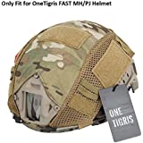 OneTigris Camouflage Helmet Cover without Helmet 500D Cordura Nylon for FAST PJ Helmet in Size S