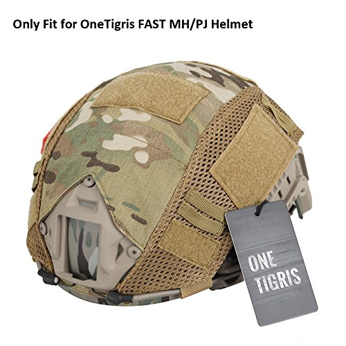 - OneTigris Camouflage Helmet Cover Without Helmet 500D Cordura Nylon for Fast PJ Helmet in Size M/L (Multicam - KB01)