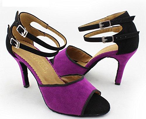 CFP - Zapatillas de danza de tela para mujer Morado morado NdvroBy