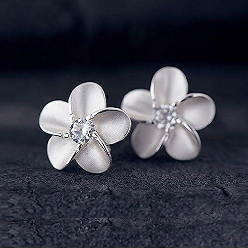 Kanggest Pendientes De Plata Mujer Niña De Botón Aretes Flores Oreja