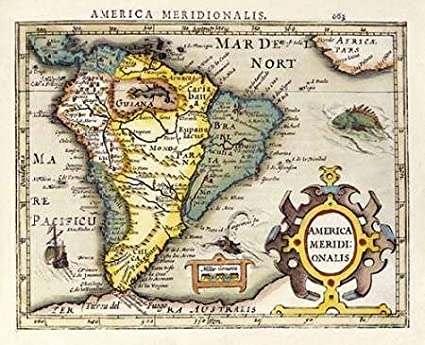 Amazon.com: Map of South America Poster Print by Gerard ...