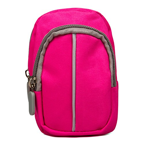 Compact Camera Case Medium Point and Shoot Camera Case for DSLR SLR Cameras(Pink)