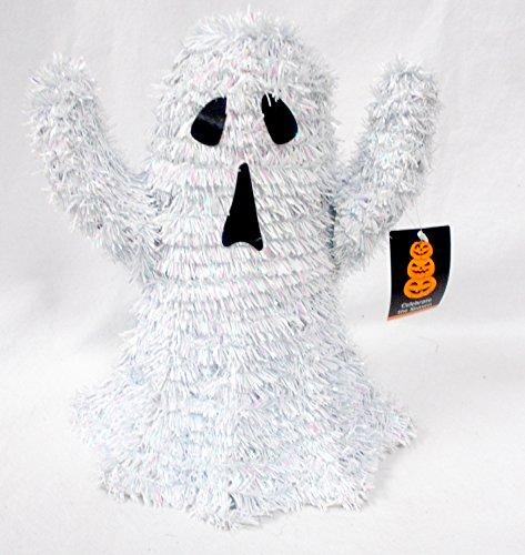 Shopko White Iridescent Tinsel Garland Ghost 10 1 2In X 9 1 2In Nip