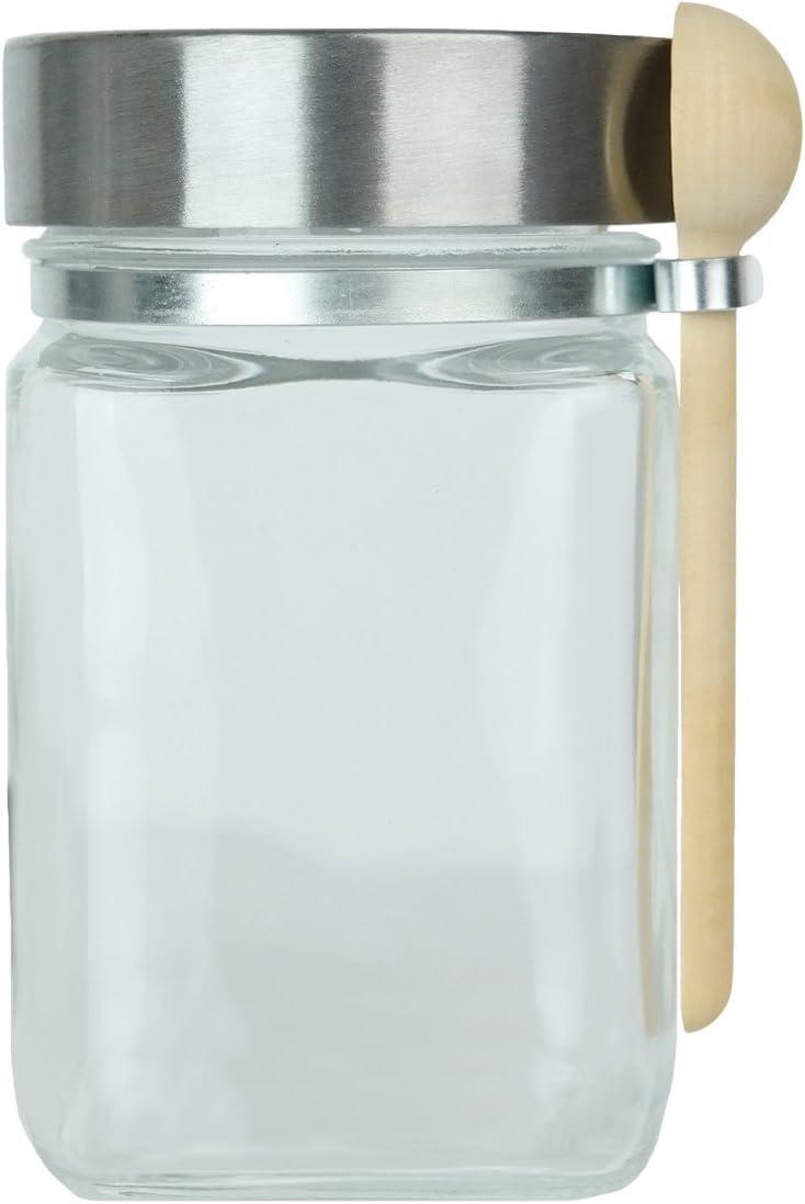Glass Jar with Spoon