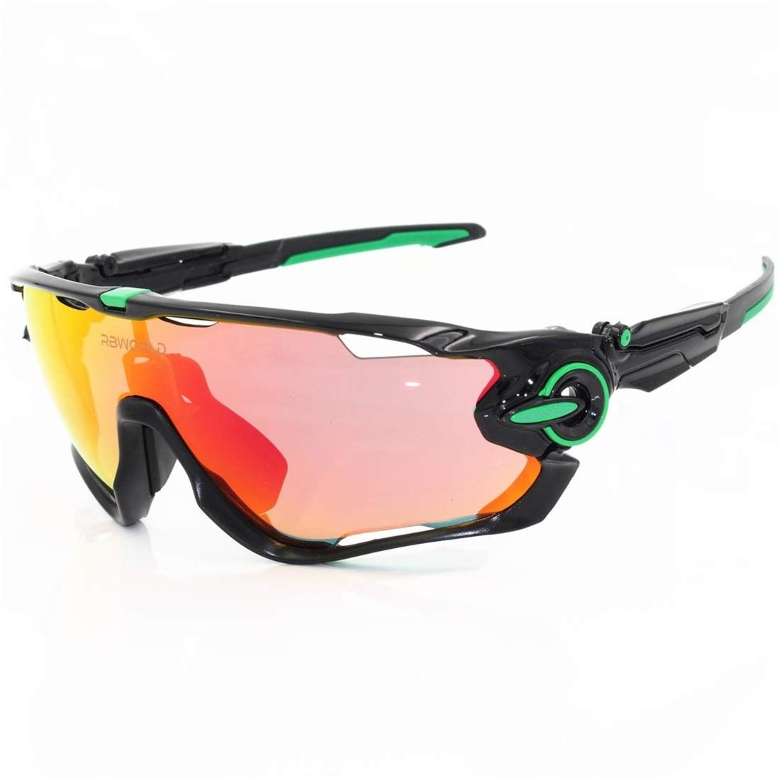 BAOYIT Polarized Sports Riding Glasses Transparent Color Glasses for Women (Color : E) by BAOYIT
